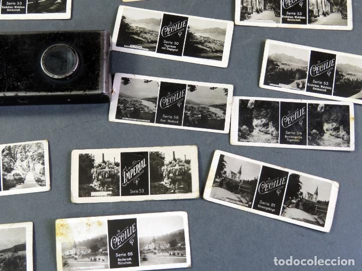 Fotografía antigua: Visor estereoscópico metal con 18 vistas estereoscópicas Imperial y Cecilie PP S XX - Foto 4 - 180476106