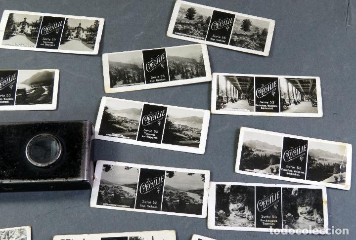 Fotografía antigua: Visor estereoscópico metal con 18 vistas estereoscópicas Imperial y Cecilie PP S XX - Foto 5 - 180476106
