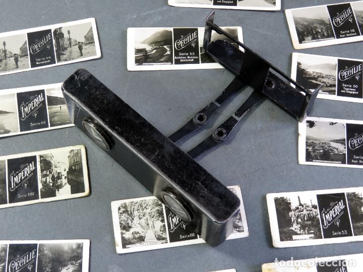 Fotografía antigua: Visor estereoscópico metal con 18 vistas estereoscópicas Imperial y Cecilie PP S XX - Foto 6 - 180476106