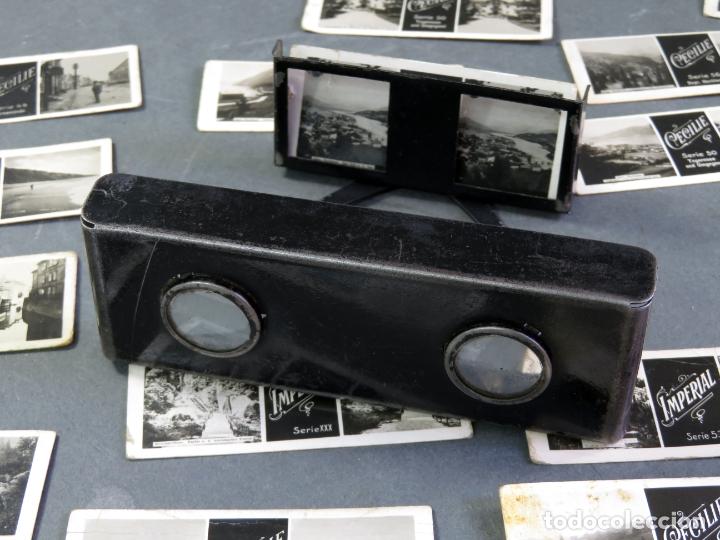 Fotografía antigua: Visor estereoscópico metal con 18 vistas estereoscópicas Imperial y Cecilie PP S XX - Foto 7 - 180476106