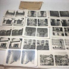 Fotografía antigua: TOLEDO COLECCIÓN COMPLETA 14 FOTOGRAFÍAS ESTEREOSCOPÍCAS ORIGINALES EXCELENTE. Lote 180838122