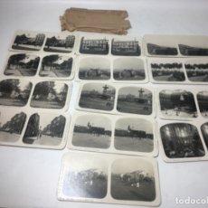 Fotografía antigua: MALAGA COLECCIÓN DE 13 FOTOGRAFÍAS ESTEREOSCOPÍCAS ORIGINALES EXCELENTE. Lote 180838692