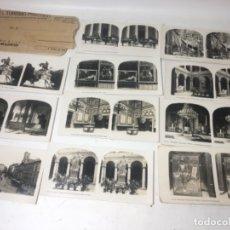 Fotografía antigua: MADRID COLECCIÓN DE 11 FOTOGRAFÍAS ESTEREOSCOPÍCAS ORIGINALES EXCELENTE. Lote 180842375
