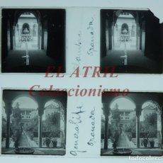Fotografía antigua: GRANADA - 2 PLACAS POSITIVO EN CRISTAL ESTEREOSCOPICAS - AÑOS 1920-30. Lote 180952870