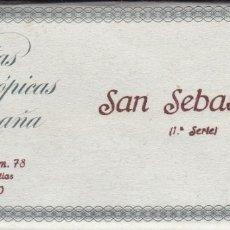 Fotografía antigua: SAN SEBASTIAN - VISTAS ESTEREOSCOPICAS DE ESPAÑA- COLECCION Nº 78 - 15 POSTALES (FOTOGRAFIA). Lote 180968171