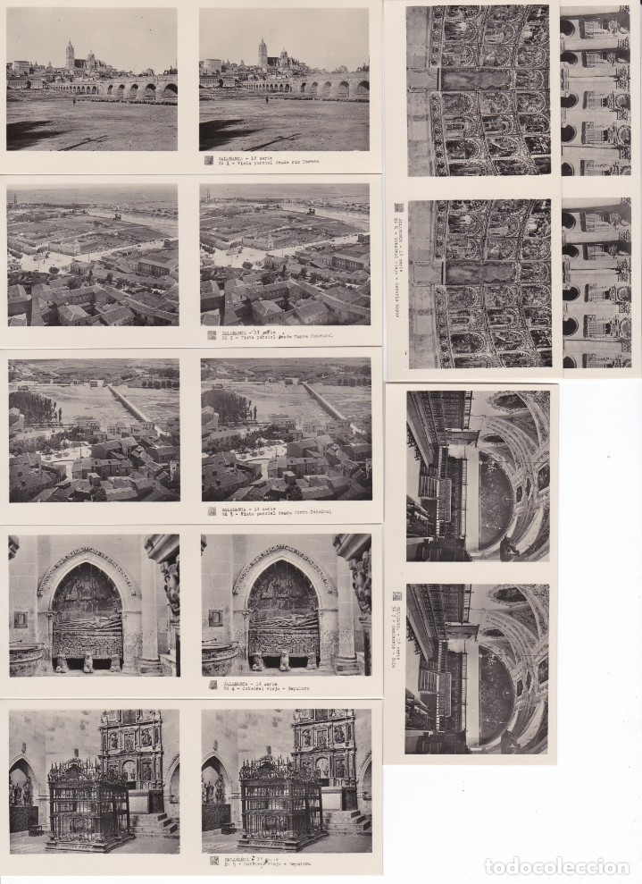 Fotografía antigua: SALAMANCA - VISTAS ESTEREOSCOPICAS DE ESPAÑA- COLECCION Nº 76 - 15 POSTALES (FOTOGRAFIA) - Foto 2 - 180973110