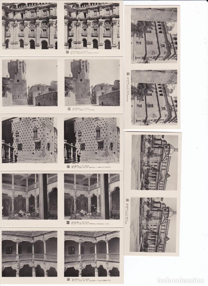 Fotografía antigua: SALAMANCA - VISTAS ESTEREOSCOPICAS DE ESPAÑA- COLECCION Nº 76 - 15 POSTALES (FOTOGRAFIA) - Foto 3 - 180973110