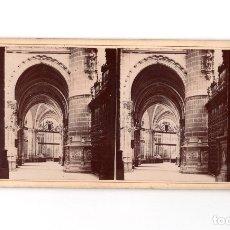 Fotografía antigua: BURGOS.- INTERIOR DE LA CATEDRAL.. Lote 182258628