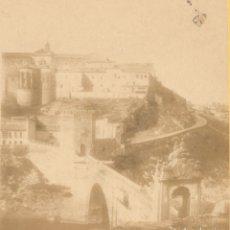 Fotografía antigua: FOTOGRAFÍA ESTEREOSCÓPICA - PUENTE DE ALCÁNTARA - TOLEDO - SIGLO XIX - HACIA 1865. Lote 182789055