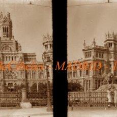 Fotografía antigua: MADRID - PLAZA DE CIBELES - 1930'S - NEGATIVO DE VIDRIO . Lote 183096613