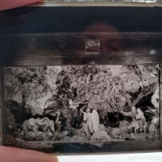 Fotografía antigua: DIORAMA PESEBRE (BELEN) - 1930'S - NEGATIVO DE VIDRIO 4,5 X 10,5 CM (APROX). Lote 183284748