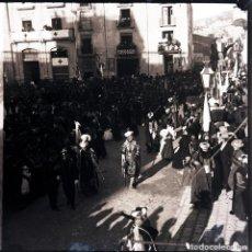 Fotografía antigua: ALCOY NEGATIVO DE CRISTAL FIESTAS. Lote 183922552