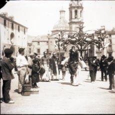 Fotografía antigua: ALCOY NEGATIVO DE CRISTAL FIESTAS. Lote 183922686