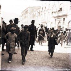 Fotografía antigua: ALCOY NEGATIVO DE CRISTAL FIESTAS. Lote 183922763