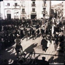 Fotografía antigua: ALCOY NEGATIVO DE CRISTAL FIESTAS. Lote 183922816