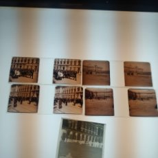 Fotografía antigua: LOTE ESTEREOSCOPICAS EN POSITIVO Y CELULOIDE PP.S.XX MADRID PALACIO REAL MILITAR DESFILES. Lote 184099085