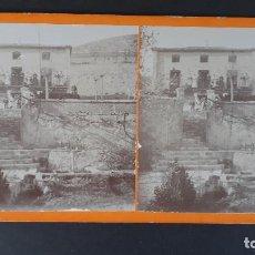 Fotografía antigua: FOTOGRAFIA ESTEREOSCOPICA ANTIGUA ZARAGOZA DAROCA TORRE DE LA VIUDA 1904 ,SPA 24. Lote 184463568