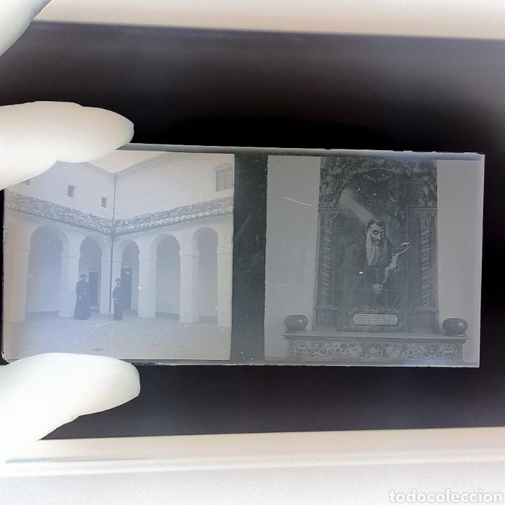 Fotografía antigua: Placa estereoscopica Negativo en cristal. Doble imagen. Hermandad Gran Poder Sevilla - Foto 3 - 185773856