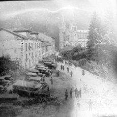 Fotografía antigua: ANTIGUAS 3 PLACAS ESTEREOSCÓPICAS CRISTAL NEGATIVO COVADONGA ASTURIAS. Lote 185785795