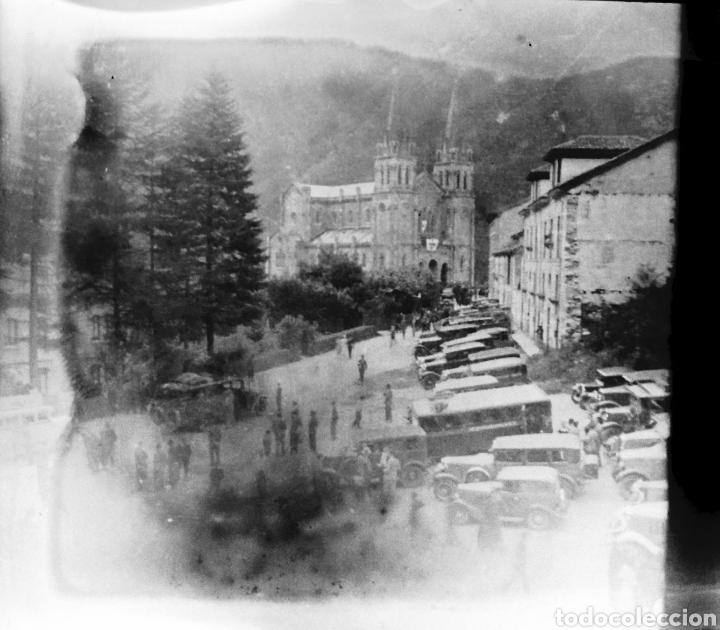 Fotografía antigua: Antiguas 3 Placas estereoscópicas cristal Negativo Covadonga Asturias - Foto 3 - 185785795