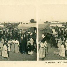 Fotografía antigua: MADRID FIESTA POPULAR ROMERÍA. HACIA 1910.. Lote 185900847