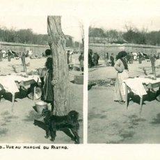 Fotografía antigua: MADRID. VISTA DEL MERCADO DEL RASTRO.HACIA 1910.. Lote 185901205