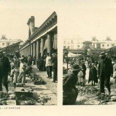 Fotografía antigua: CÁDIZ. EL MERCADO. HACIA 1910.. Lote 185928785