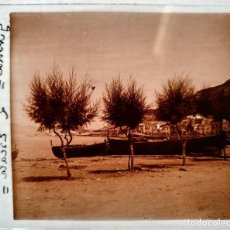 Fotografía antigua: L'ESCALA (GIRONA) VISTA GENERAL - 1930'S - NEGATIVO DE VIDRIO 4,5 X 10,5 CM (APROX). Lote 185979840