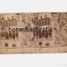 Fotografía antigua: MONTSERRAT, 1860 APROX. ALBÚMINA ESTEREO 8,4X16,5 CM. DATOS REVERSOS. Lote 187173957