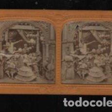 Fotografía antigua: MUY BUENA Y RARA FOTO ESTEREOSCÓPICA DE UNA BANDA DE MÚSICA DE CALAVERAS. Lote 189577430