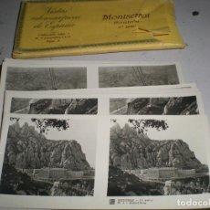 Fotografía antigua: PAQUETE VISTAS ESTEREOSCÓPICAS MONASTERIOS MONTSERRAT. Lote 190059027