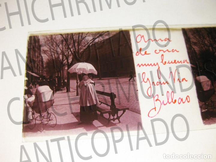 LOTE DE 17 PLACAS ESTEREOSCÓPICAS DE BILBAO. ANIMADAS. FOTÓGRAFO M. RIAZA. (Fotografía Antigua - Estereoscópicas)