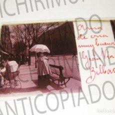 Fotografía antigua: LOTE DE 17 PLACAS ESTEREOSCÓPICAS DE BILBAO. ANIMADAS. FOTÓGRAFO M. RIAZA.. Lote 194073763