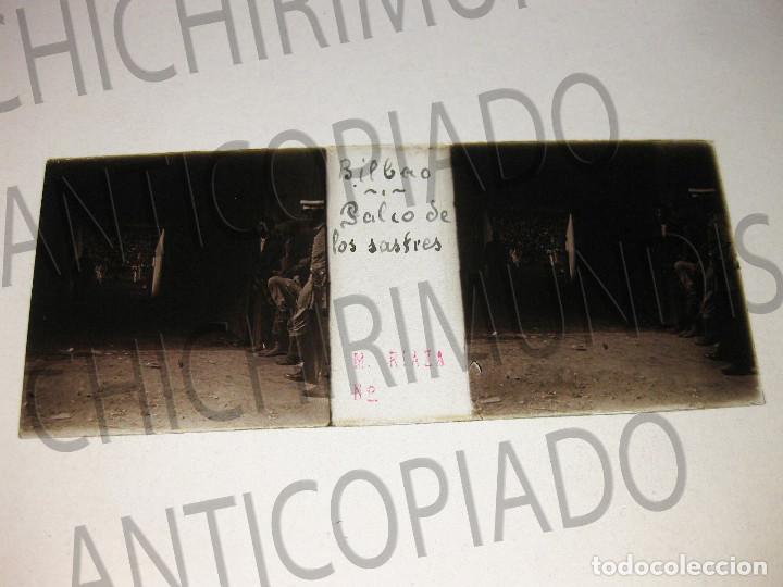 Fotografía antigua: Lote de 17 placas estereoscópicas de Bilbao. Animadas. Fotógrafo M. Riaza. - Foto 2 - 194073763