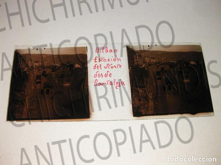 Fotografía antigua: Lote de 17 placas estereoscópicas de Bilbao. Animadas. Fotógrafo M. Riaza. - Foto 5 - 194073763