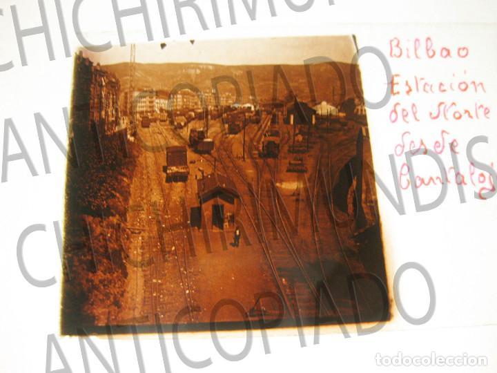 Fotografía antigua: Lote de 17 placas estereoscópicas de Bilbao. Animadas. Fotógrafo M. Riaza. - Foto 6 - 194073763
