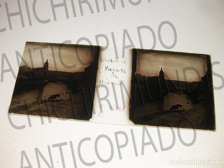 Fotografía antigua: Lote de 17 placas estereoscópicas de Bilbao. Animadas. Fotógrafo M. Riaza. - Foto 7 - 194073763