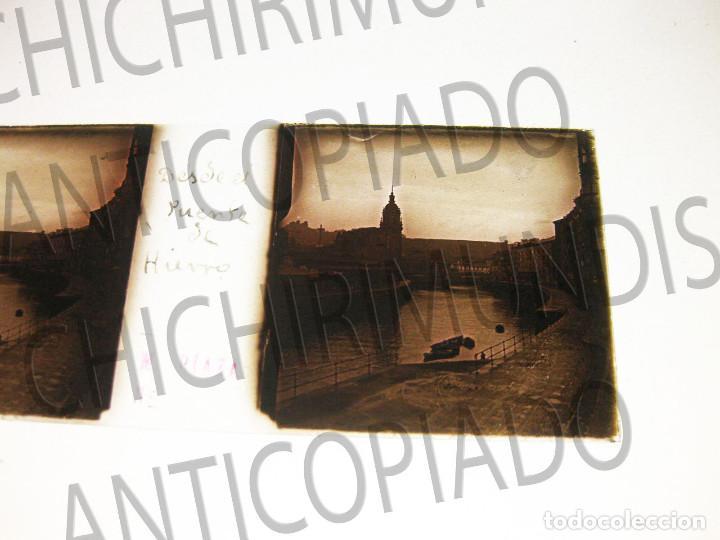 Fotografía antigua: Lote de 17 placas estereoscópicas de Bilbao. Animadas. Fotógrafo M. Riaza. - Foto 8 - 194073763