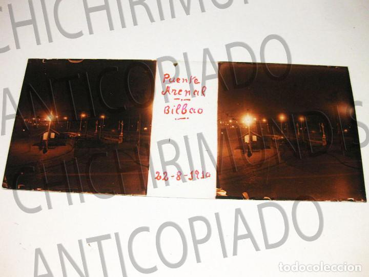 Fotografía antigua: Lote de 17 placas estereoscópicas de Bilbao. Animadas. Fotógrafo M. Riaza. - Foto 9 - 194073763