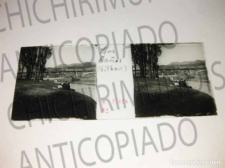 Fotografía antigua: Lote de 17 placas estereoscópicas de Bilbao. Animadas. Fotógrafo M. Riaza. - Foto 12 - 194073763