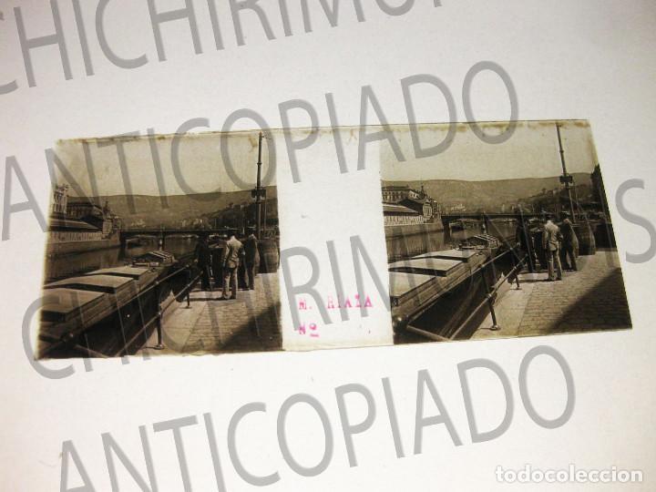 Fotografía antigua: Lote de 17 placas estereoscópicas de Bilbao. Animadas. Fotógrafo M. Riaza. - Foto 13 - 194073763