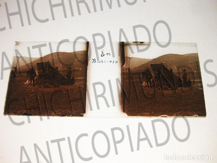 Fotografía antigua: Lote de 17 placas estereoscópicas de Bilbao. Animadas. Fotógrafo M. Riaza. - Foto 14 - 194073763