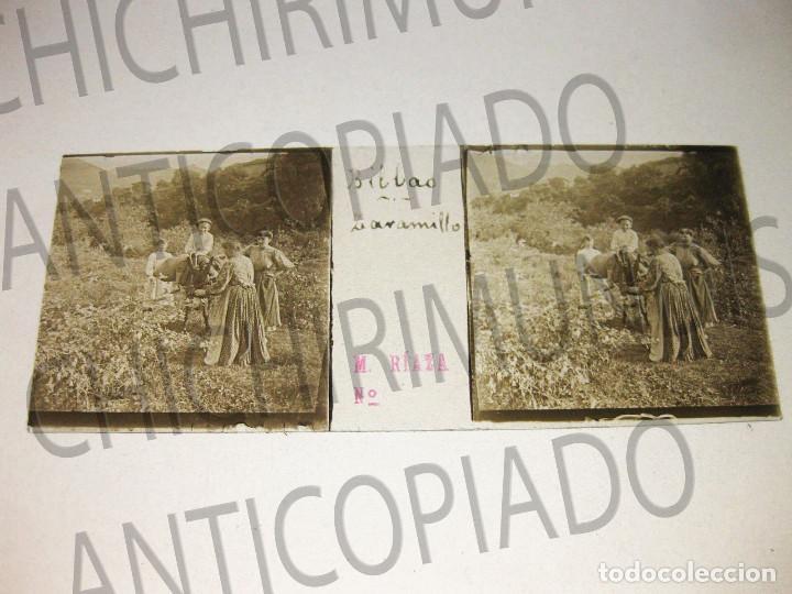 Fotografía antigua: Lote de 17 placas estereoscópicas de Bilbao. Animadas. Fotógrafo M. Riaza. - Foto 16 - 194073763