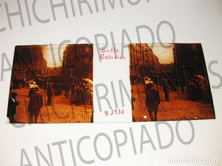 Fotografía antigua: Lote de 17 placas estereoscópicas de Bilbao. Animadas. Fotógrafo M. Riaza. - Foto 17 - 194073763