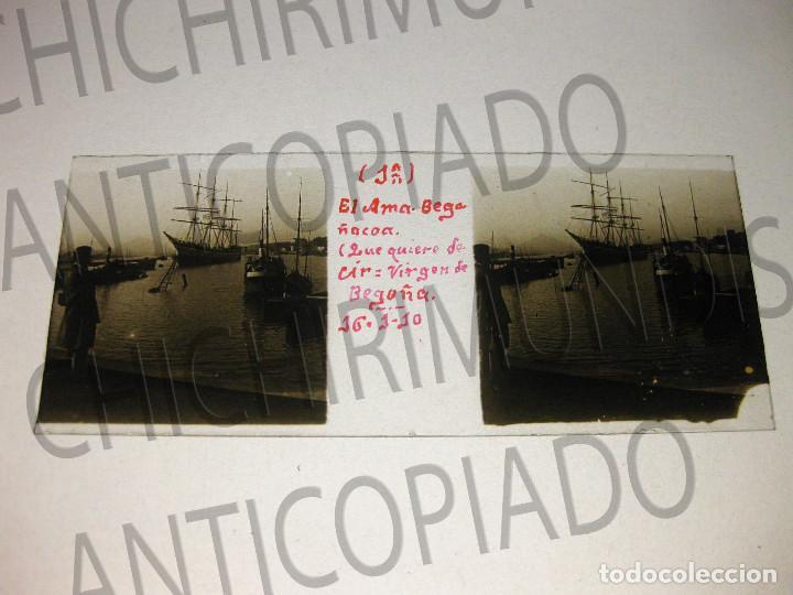 Fotografía antigua: Lote de 17 placas estereoscópicas de Bilbao. Animadas. Fotógrafo M. Riaza. - Foto 18 - 194073763