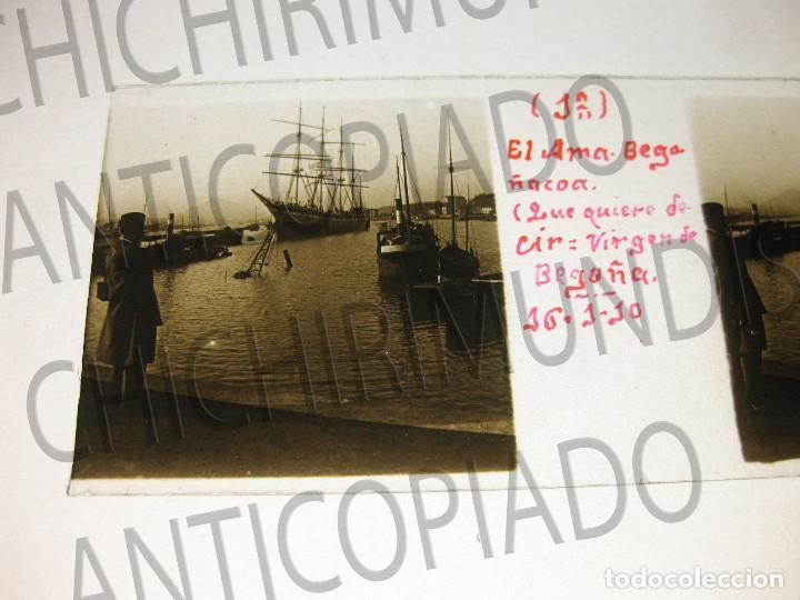 Fotografía antigua: Lote de 17 placas estereoscópicas de Bilbao. Animadas. Fotógrafo M. Riaza. - Foto 19 - 194073763