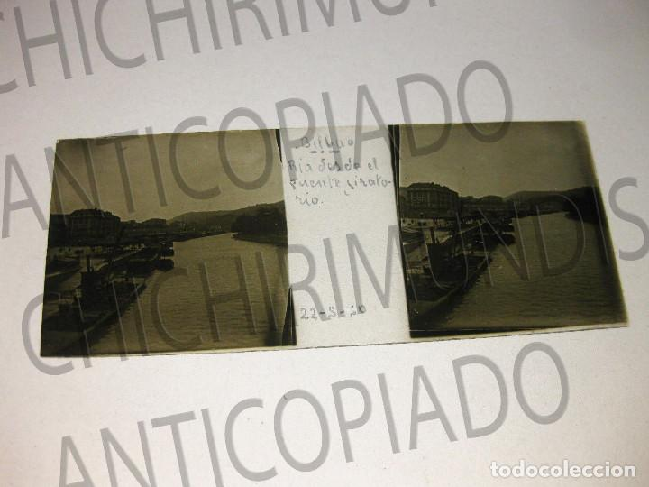 Fotografía antigua: Lote de 17 placas estereoscópicas de Bilbao. Animadas. Fotógrafo M. Riaza. - Foto 22 - 194073763