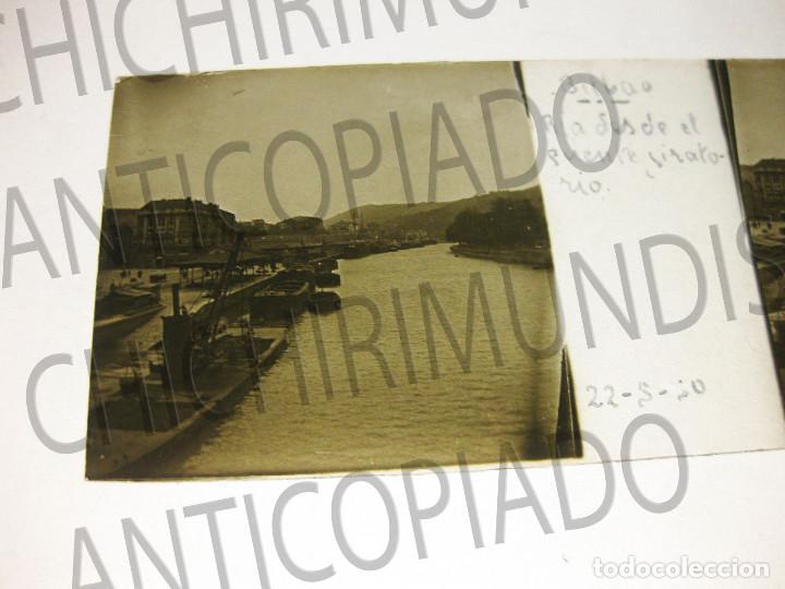 Fotografía antigua: Lote de 17 placas estereoscópicas de Bilbao. Animadas. Fotógrafo M. Riaza. - Foto 23 - 194073763
