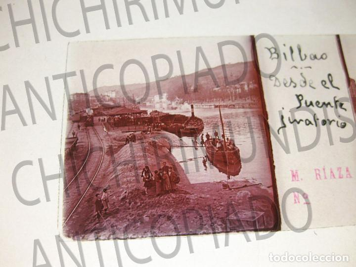 Fotografía antigua: Lote de 17 placas estereoscópicas de Bilbao. Animadas. Fotógrafo M. Riaza. - Foto 25 - 194073763
