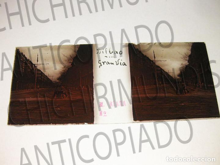Fotografía antigua: Lote de 17 placas estereoscópicas de Bilbao. Animadas. Fotógrafo M. Riaza. - Foto 26 - 194073763